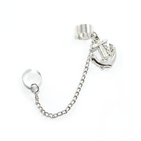 Double Cuff Anchor Earring