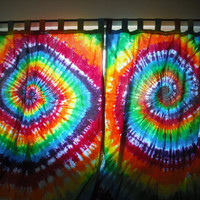 Tie dye Custom Curtains