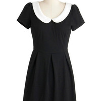 Short Sleeves A-line Record Time Dress