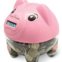 The Digi-Piggy Digital Coin Counting Bank (Pink): Toys & Games