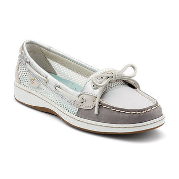 Sperry Top-sider Womens Angelfish Boat Shoe grey open mesh 9102765 BNIB