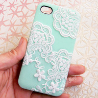 Handmade  Lace  Candy Color Case For iPhone4/4S,iPhone5
