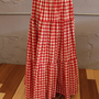 Red and white gingham skirt sz.sm-md