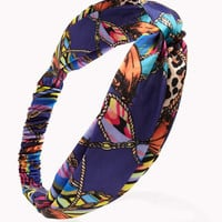 Knotted Scarf Print Headwrap | FOREVER 21 - 1054167645