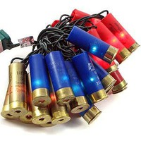 More Than Christmas 15021 - 35 Light Green Wire Multi-Color Shotgun Shell String Set (SL035-24)