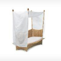 Dedon: Daydream - Bed KIDZ incl. canopy - natural