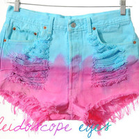 Vintage Levis 501 Ombre dip Dyed Destroyed by ShopKaleidoscopeEyes