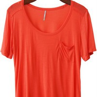 Dreamy Summer Days Vintage Wash Tee, Coral
