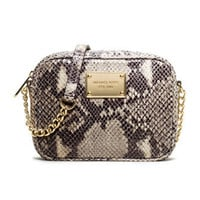 MICHAEL Michael Kors  Jet Set Snake-Embossed Crossbody