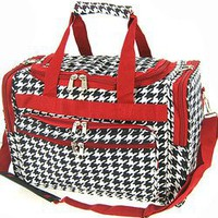 Amazon.com: 16&quot; Red Black White Houndstooth Duffle Dance Cheer Gym Travel Bag Bama Roll Tide: Clothing