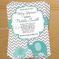 Boy Baby Shower Invitation Elephant Baby Shower Invitation FREE Thank You card Baby Boy Shower Invitation Baby Shower Invite Printable