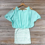 The Lily Dress in Mint, Sweet Women&#x27;s Bohemian Clothing