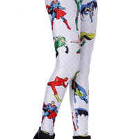 ROMWE | Super Hero White Leggings, The Latest Street Fashion