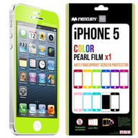SQ 1 [Mercury] Matte Finish Color Screen Protector for Apple iPhone 5 (Lime Green)
