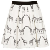 Kissing Giraffe Pleated Skirt