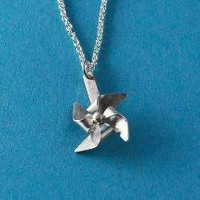 Tiny Pinwheel windmill Necklace by mxmjewelry on Etsy
