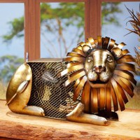 Majestic Lion Figurine Fan