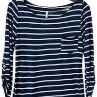 Perfect Everyday Shirt, Navy Stripes (Narrow)
