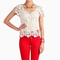 Cotton Doily Lace Top by Mustard Seed