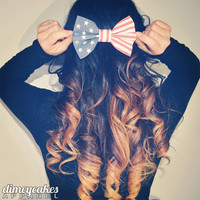 Vintage American Flag Hair Bow - Dimeycakes