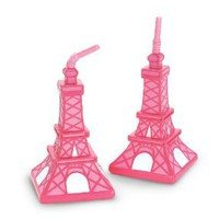Amazon.com: Pink Eiffel Tower Cups (8 count) Party Accessory: Toys &amp; Games