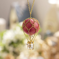 Pink Balloon Necklace  N0028 // Family Gift Birthday by queenspark