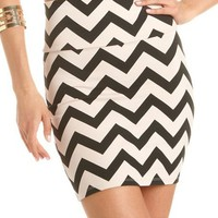 Chevron Stripe Cotton Mini Skirt: Charlotte Russe