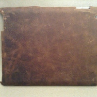 Genuine buffalo leather snap on iPad case
