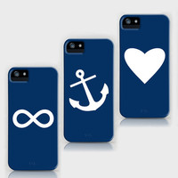 Navy Blue iPhone Cases by M Studio - For iPhone 3G, 3GS, 4, 4S, and 5 (Each sold separately)