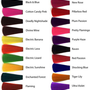 "P A S T E L  or bold colored 18"" long human hair extension/ clip-in hair/ dip dye ombre (6) hair extensions"