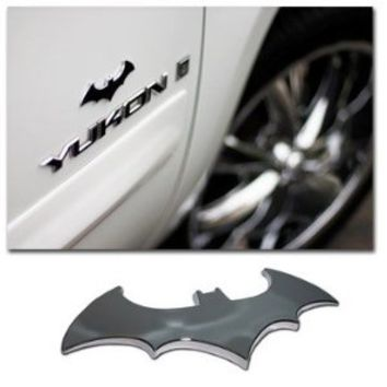 Batman 3d Chrome ABS Car Emblem : Amazon.com : Automotive