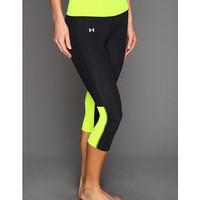 Under Armour UA Fly-By Compression Capri Black/High-Vis Yellow/Reflective - Zappos.com Free Shipping BOTH Ways