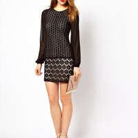 Coast Sophette Pop on Geo Lace Dress at asos.com