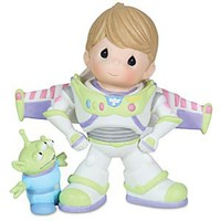 &#x27;&#x27;To Infinity and Beyond&#x27;&#x27; Buzz Lightyear and Space Alien Figurine by Precious Moments | Disney Store