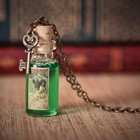 Absinthe Bottle Necklace La Fee Verte Green by AlternateHistory