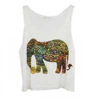 Lovely Elephant Print TankTop from MostImpact