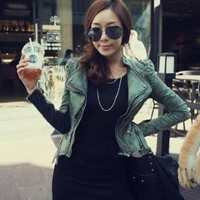 Amazon.com: Lady Power Studded Shoulder Denim Jeans Tuxedo Coat Notched Lapel Blazer Jacket: Clothing