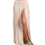 Stone High Slit Maxi Skirt