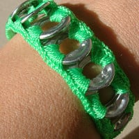 ReCycladelic Pop Top Bracelet Electric Neon Green Soda by lanmom