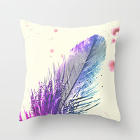 *** Feather Splash *** Throw Pillow by Mnika  Strigel