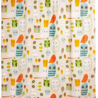 Shower Power Shower Curtain in Owl Clean | Mod Retro Vintage Bath | ModCloth.com