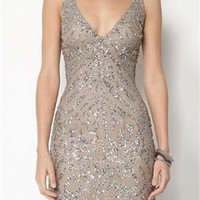 Shail K. Sleeveless V-Neck Sequin Dress - The Dress Shop - Modnique.com