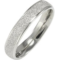 Stainless Steel Sparkle 3.8mm Band Ring - Women: Jewelry: Amazon.com
