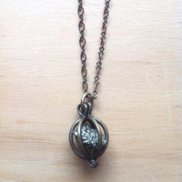 "Pyrite Chunk ""Atomic"" Necklace - Fools Gold"