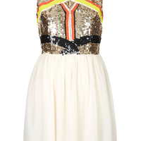 Sequin Panel Skater Dress - Dresses - Clothing - Topshop USA