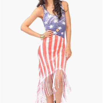 American Fringe Dress - Multi