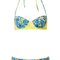 Blue Porcelain Floral Bikini - Bikini Sets - Swimwear - Clothing - Topshop USA