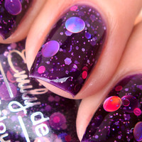 Nail polish  Cosmic Forces holographic dot glitter by EmilydeMolly