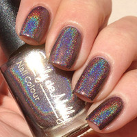 Nail polish  Ground Control brown linear by EmilydeMolly on Etsy