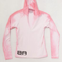BA - Pink to White - Women&#x27;s Color Changing Hooded Half Zip -